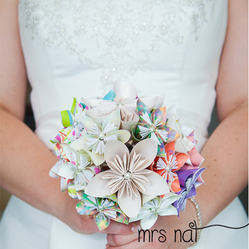 ABC TV | How To Make Origami Paper Flower Wedding Bouquet - Craft ... | 500x500